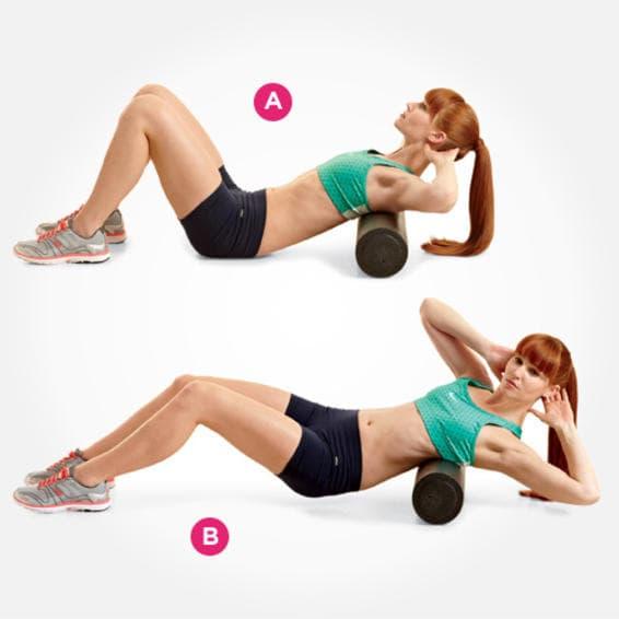 Õla alumise lihase harjutused foam rolleriga