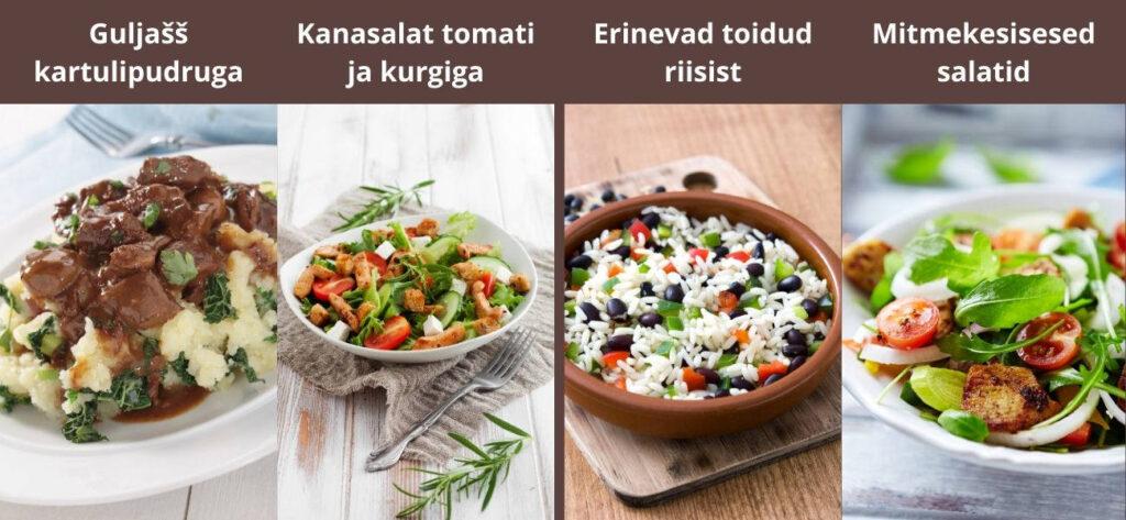 tervisliku toitumise põhimõtted