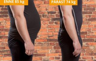 kaalust alla ehk kehakaalust maha 10 kg kahe kuuga